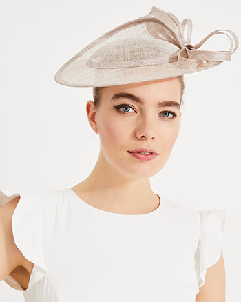 Phase Eight Zoe Split Back Disc Fascinator Latte Cream