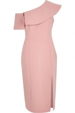 River Island Pink cape sleeve midi dress