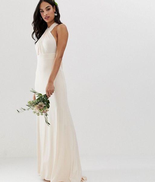 026f6fe931 TFNC bridesmaid exclusive multiway maxi dress in pearl pink. TFNC bridesmaid  exclusive multiway maxi dress in pearl pink