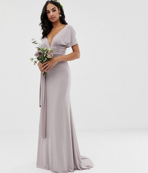 c255c0433d TFNC multiway maxi Bridesmaid dress grey silver