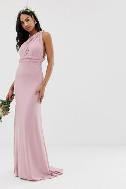 TFNC multiway maxi Bridesmaid dress pink