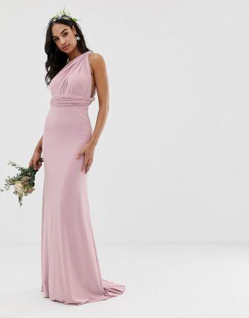TFNC multiway maxi Bridesmaid dress pink