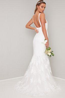 Chi Chi Bridal Suranne Lace Mermaid Maxi Wedding Dress Ivory