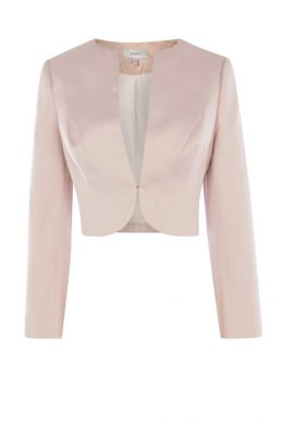 Coast Lucy Satin Jacket Pale Pink Oyster