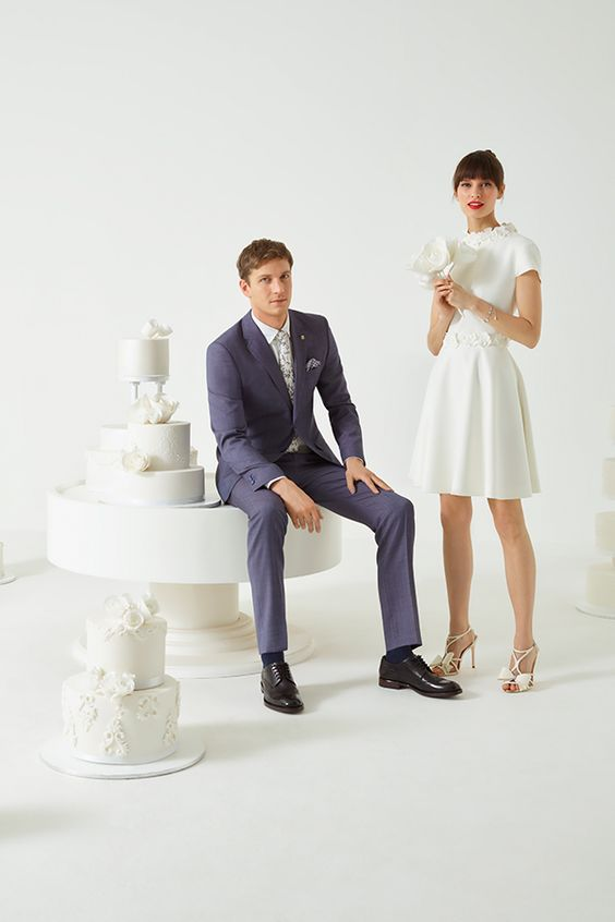 ted baker tie the knot groom suits high street wedding