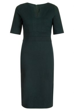 Hobbs Cheryl Sleeve Shift Dress Green