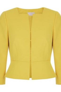 Hobbs Harper Square Jacket Yellow