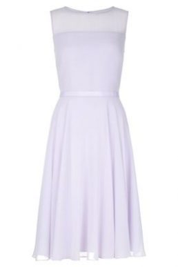 Hobbs Abigale Sheer Short Dress Lilac Light Purple