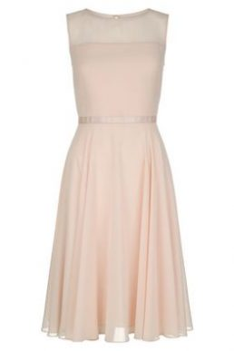 Hobbs Abigale Sheer Short Dress Pale Pink Blush