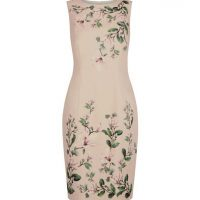 Hobbs Fiona Floral Print Shift Dress Pink Multi