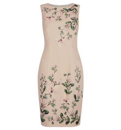 Hobbs Fiona Floral Print Shift Dress Pink Multi
