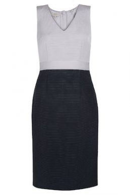 Hobbs Laurie Shift Colour Block Dress Navy Lavender