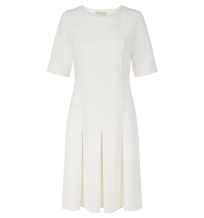 Hobbs Rosina Sleeve Dress Ivory