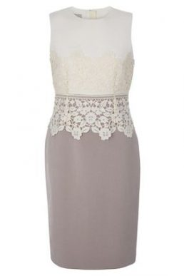 Hobbs Seraphina Lace Shift Dress Cream Latte