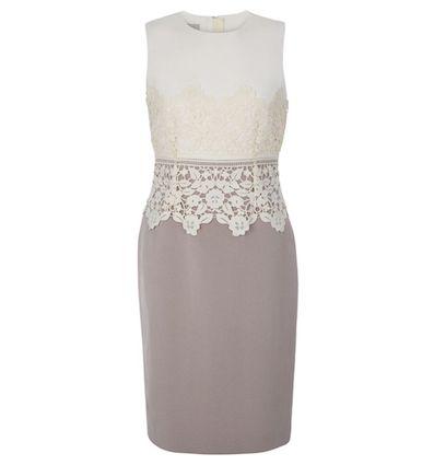 Hobbs Seraphina Lace Shift Dress Cream Latte