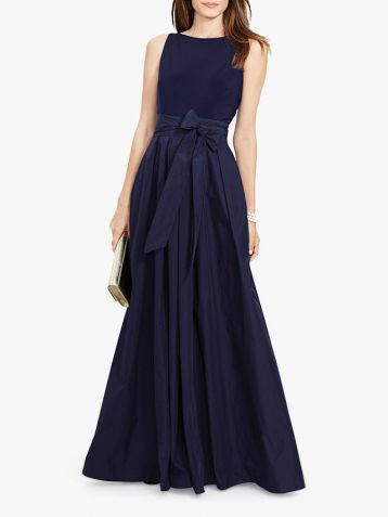 Lauren Ralph Lauren Agni Maxi Evening Dress Navy