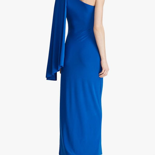 666c6339cc1d Lauren Ralph Lauren Dellah One Shoulder Maxi Dress, Portuguese Blue ...