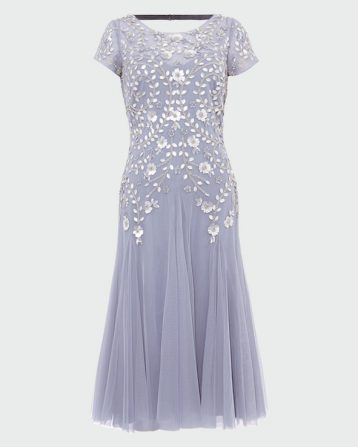 Phase Eight Celia Sequin Tulle Dress Lavender Lilac