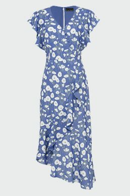 Phase Eight Veronica Ditsy Flower Dress Blue White