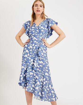 3a9efbec2add Phase Eight Veronica Ditsy Flower Print Dress, Blue/White ...