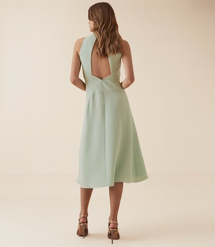 05518c957b7 Reiss Doriana Open Back Fit And Flare Dress