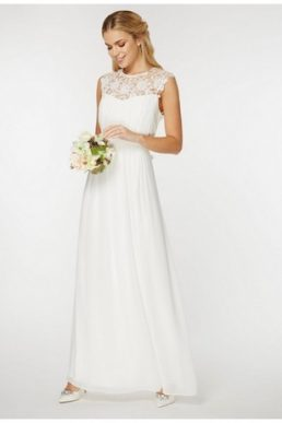 "Showcase Bridal Lace ""Kathryn"" Maxi Dress Ivory"
