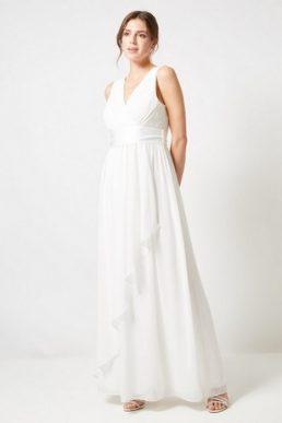 Showcase Ivory Bridal 'Phoebe' Maxi Dress White
