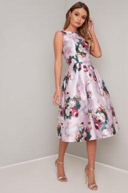 Chi Chi Ariyah Floral Print Dress Pink Multi
