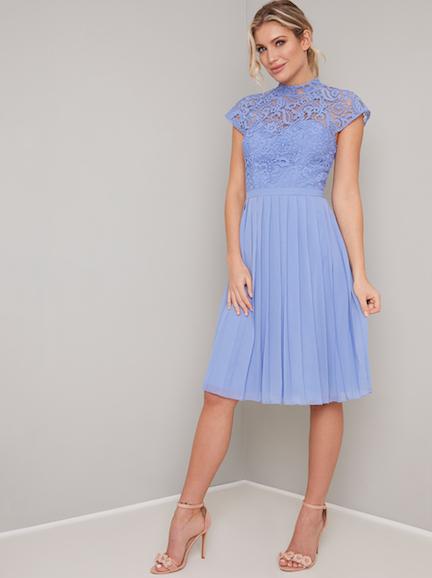 324d72d864d Chi Chi Lace Rozie Midi Bridesmaid Dress Cornflower Blue. Chi Chi Lace  Rozie Midi Bridesmaid