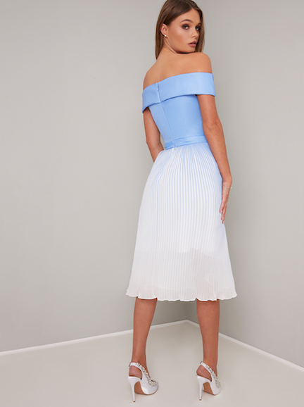 1072f637722d Chi Chi Mireya Ombre Bardot Dress