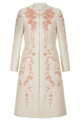 Hobbs Melody Floral Coat Oyster Pink