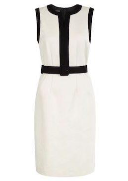 Hobbs Alison Colour Block Shift Dress Black White