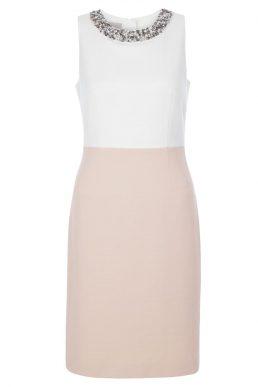 Hobbs Arizona Embellished Shift Dress Pink Ivory