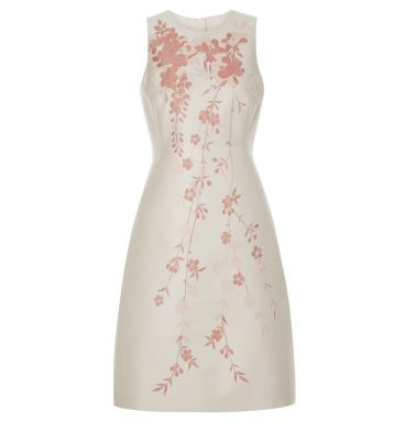 Hobbs Melody Floral Shift Dress Pink Oyster
