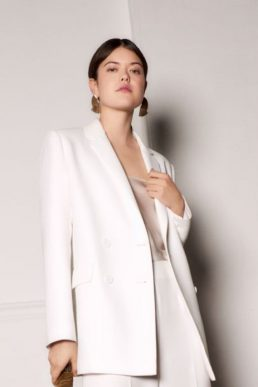 Whistles Annie Wedding Blazer Ivory