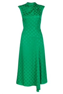 Hobbs Marina Spot Dress Green