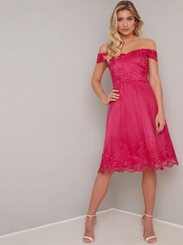 Chi Chi Lace short bridesmaid Ryan Dress Pink