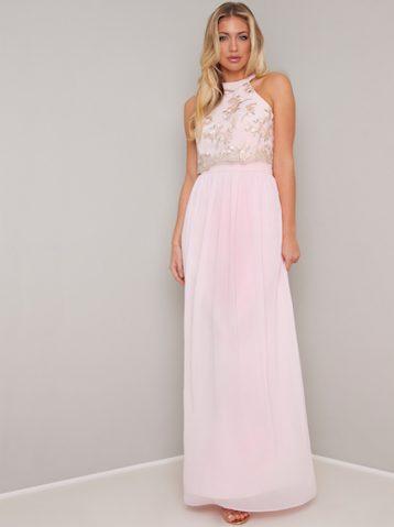Chi Chi Vilma Maxi Dress Pink Blush