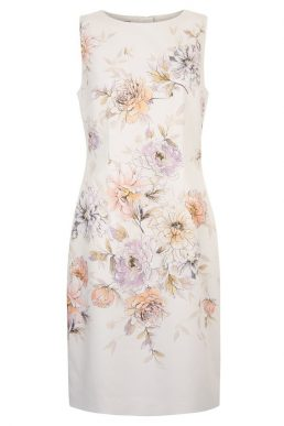 Hobbs Moira Floral Print Dress Ivory Multi