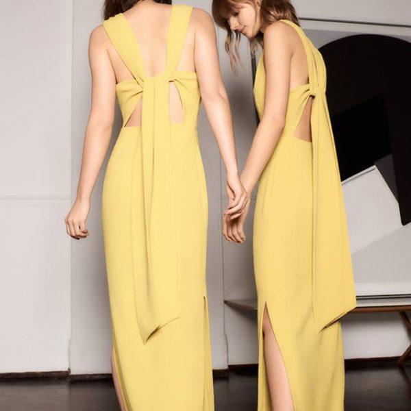 b3e51a1109e5 Whistles Tie Back Maxi Dress, Yellow | myonewedding.co.uk