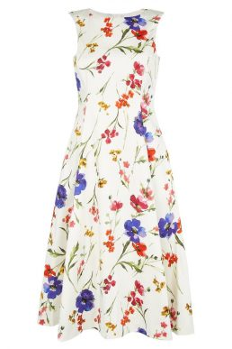 Hobbs Cleo Floral Dress White Multi