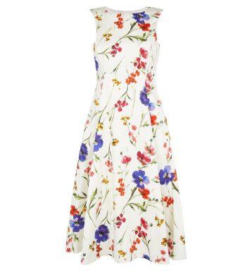 Hobbs Cleo Floral Dress White Multi