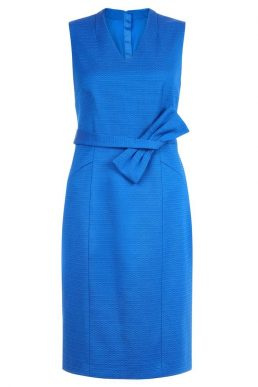 Hobbs Mary Bow Shift Dress Blue