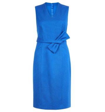 Hobbs Mary Bow Shift Dress Blue