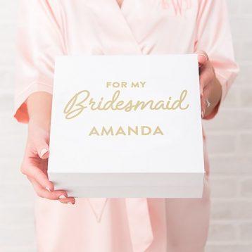 Premium Gift Box - Bridesmaid In Metallic Gold