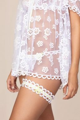 Agent Provocateur Laurelie Garter White and Lime, White
