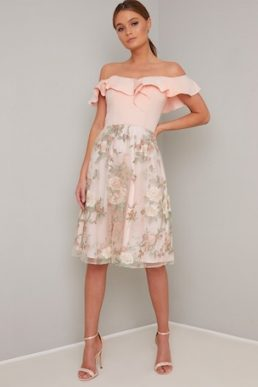 Chi Chi Kenna Floral Dress Pale Pink Blush