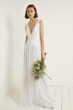 93fb7cc2e07 French Connection Estelle Embellished V-Neck Dress White