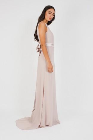 TFNC Halannah Whisper Pink Maxi Dress Light Blush