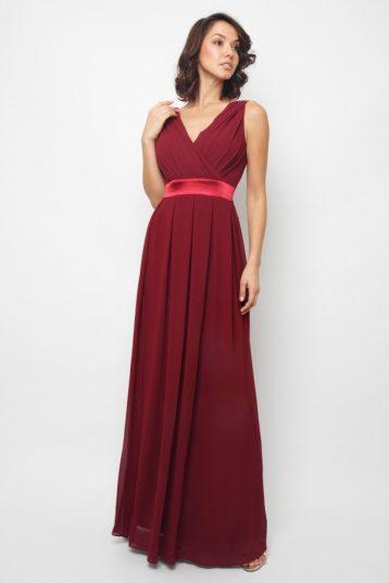 TFNC Kily Pale Mauve Maxi Dress Burgundy Red